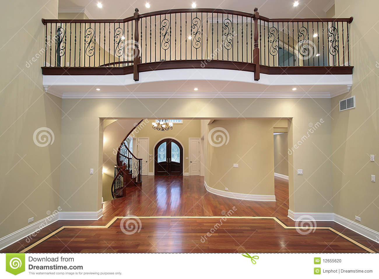 Foyer Clipart : Foyer with balcony stock photo image of decorate floor