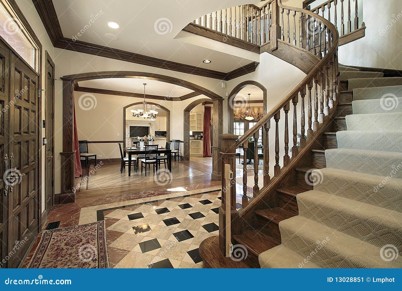 Foyer with floor design stock image image 13028851 for Luxury foyer design