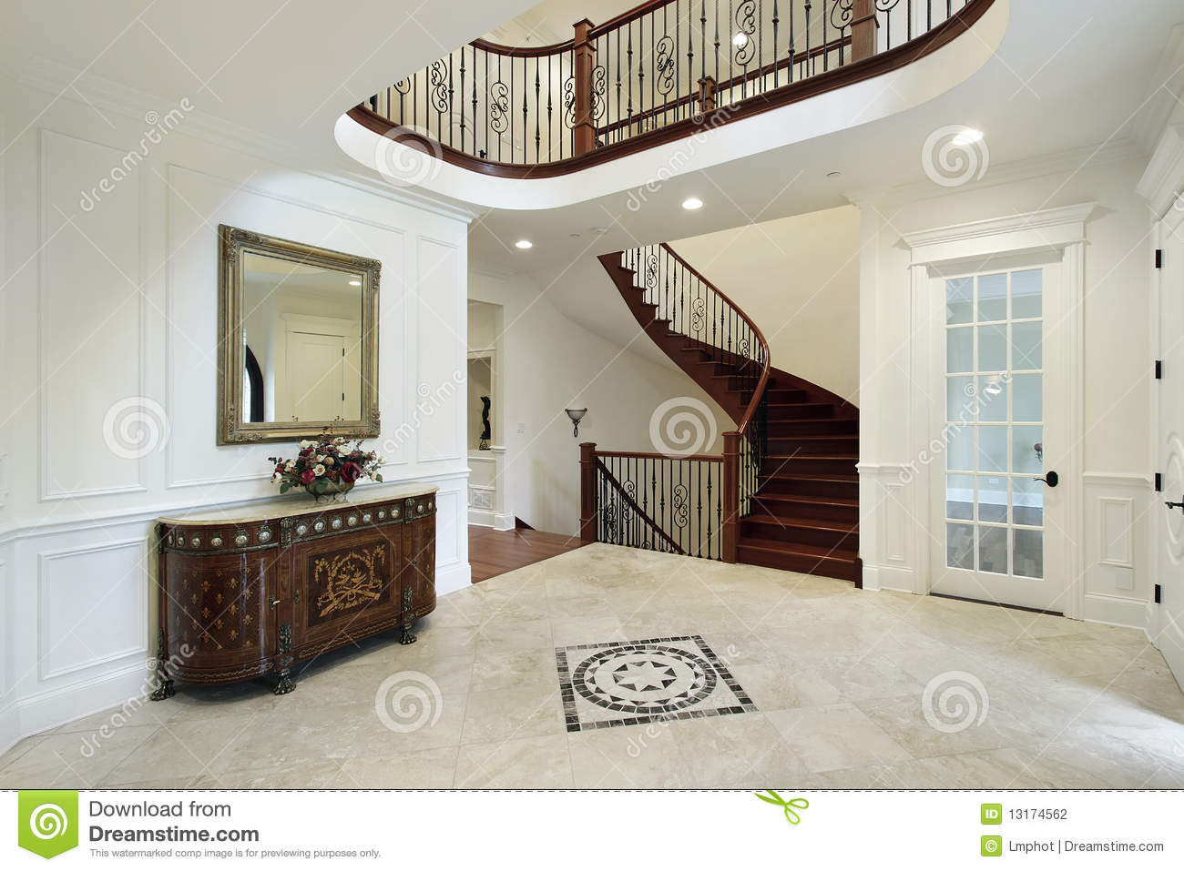 Foyer Tile Floor Designs : Foyer with floor design stock photography image