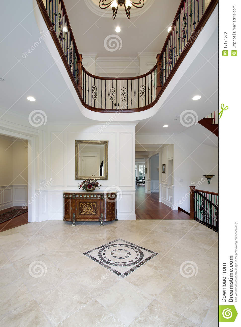 Foyer Clipart : Foyer with floor design stock photo image