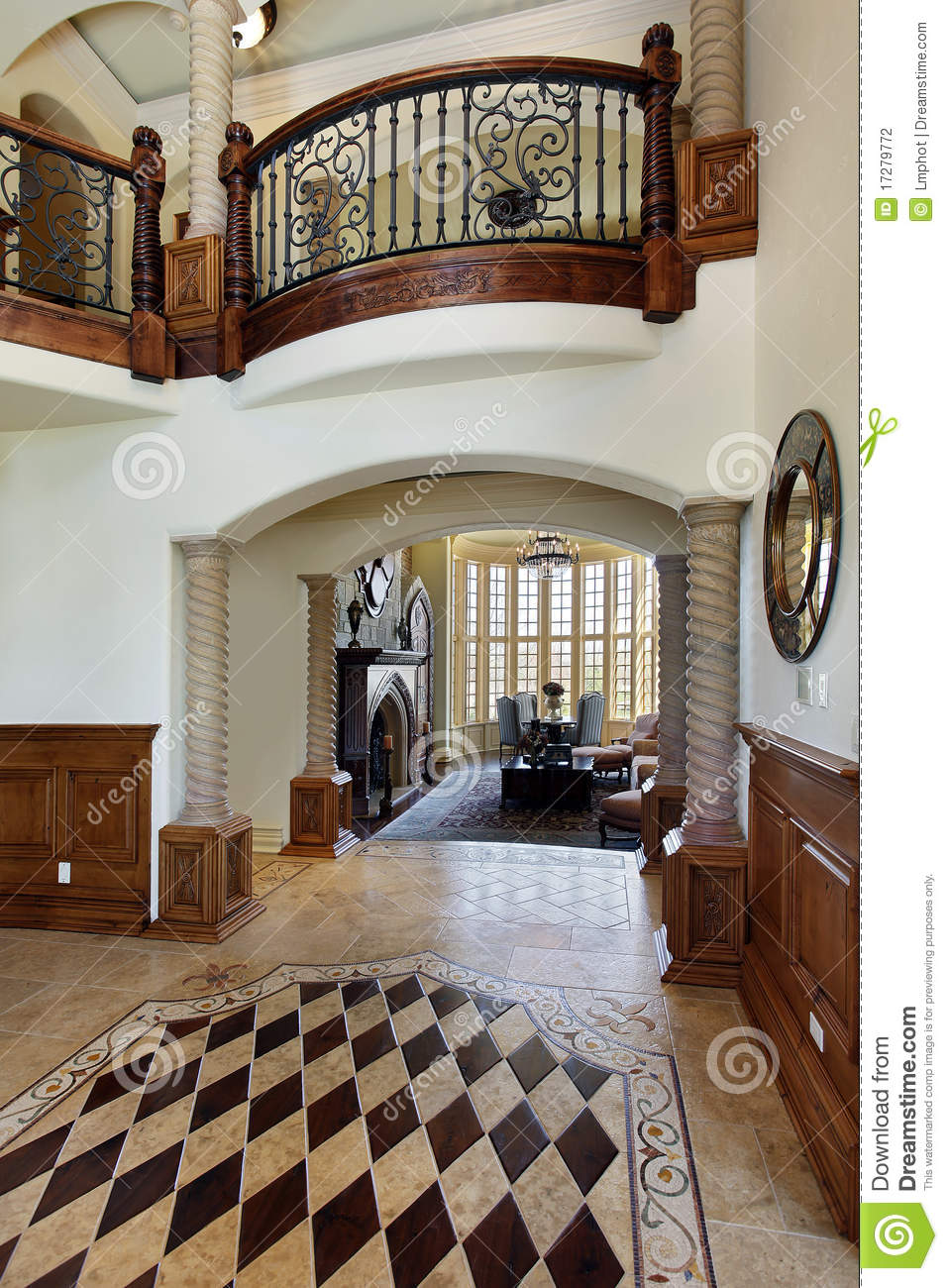 House Foyer Xl : Foyer with floor design stock photo image of room luxury