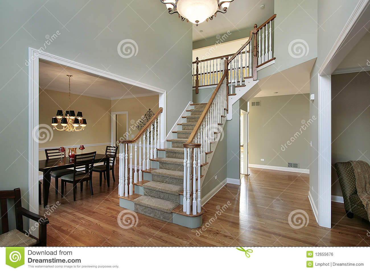 Foyer Clipart : Foyer in luxury home royalty free stock image