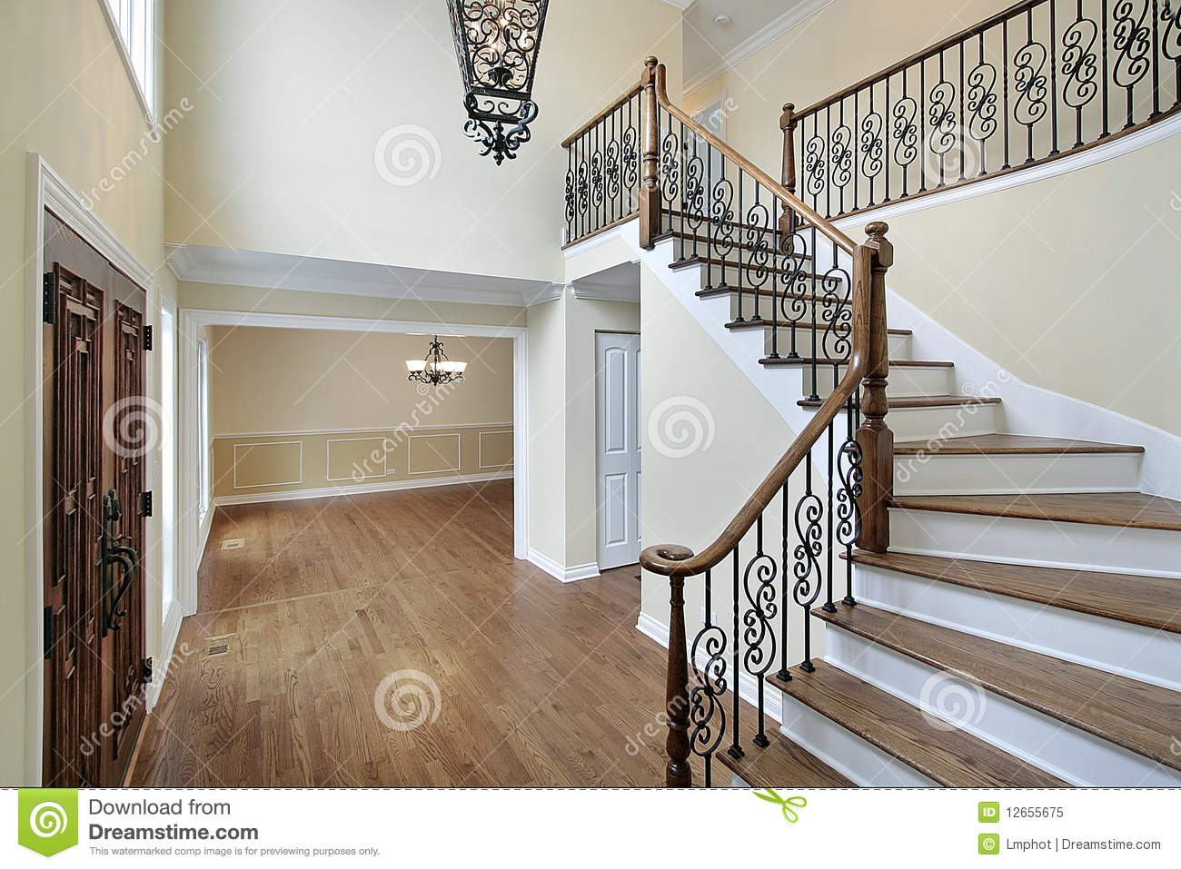 House Foyer Xl : Foyer in new construction home royalty free stock photo