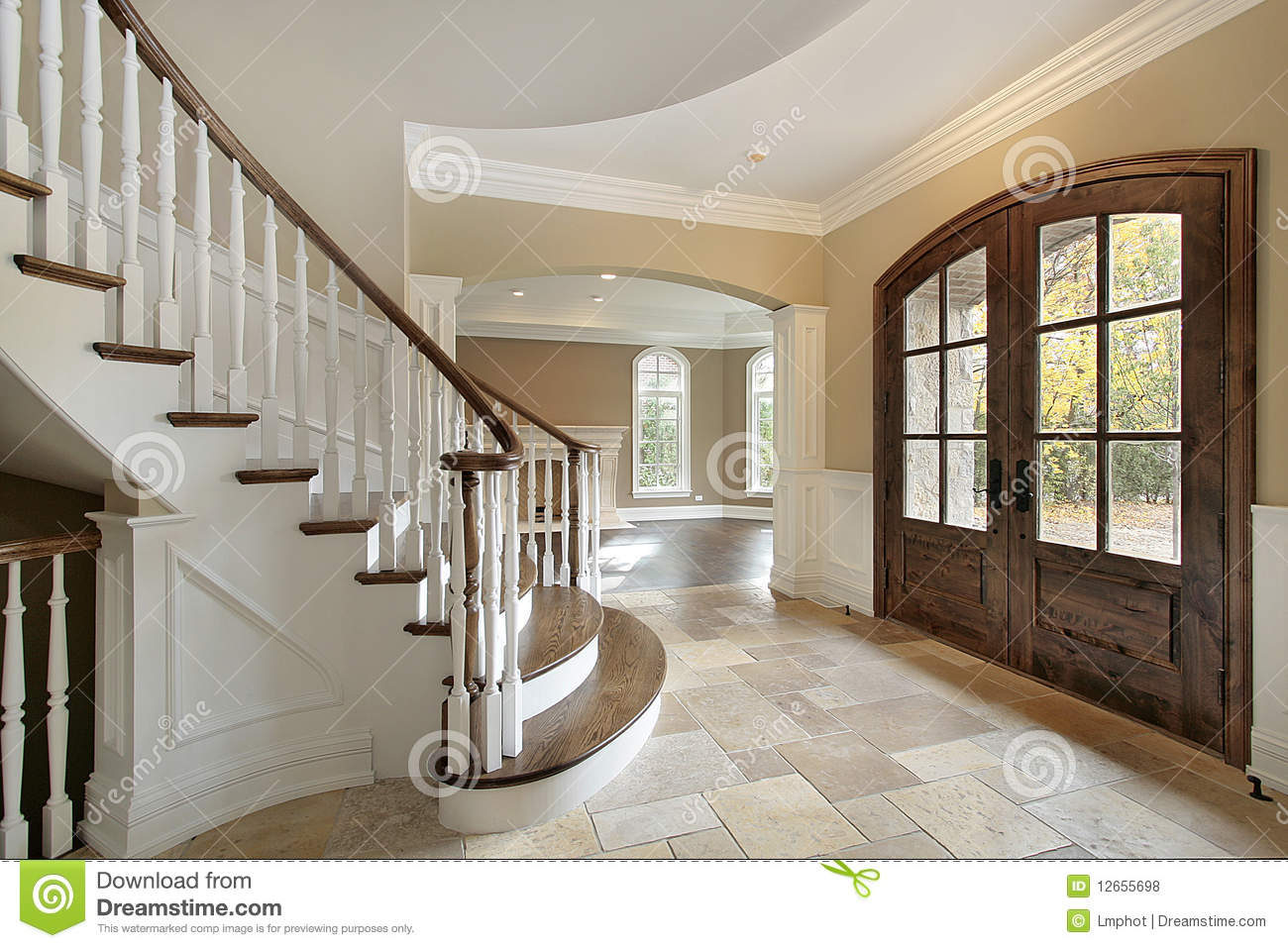 Front Foyer Xl : Foyer in new construction home royalty free stock photos