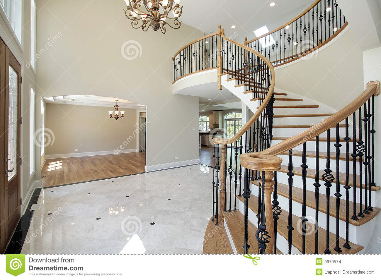House Foyer Xl : Foyer in new construction home stock images image