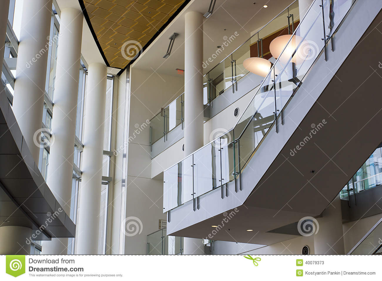 Modern Office Foyer : Foyer of an office building stock photo image