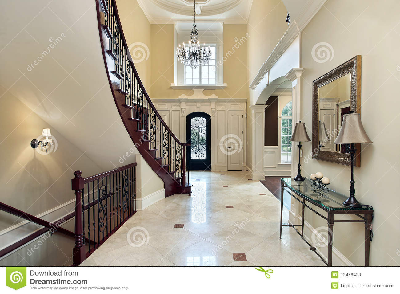 Foyer Window Cost : Foyer with second story window stock photo image of