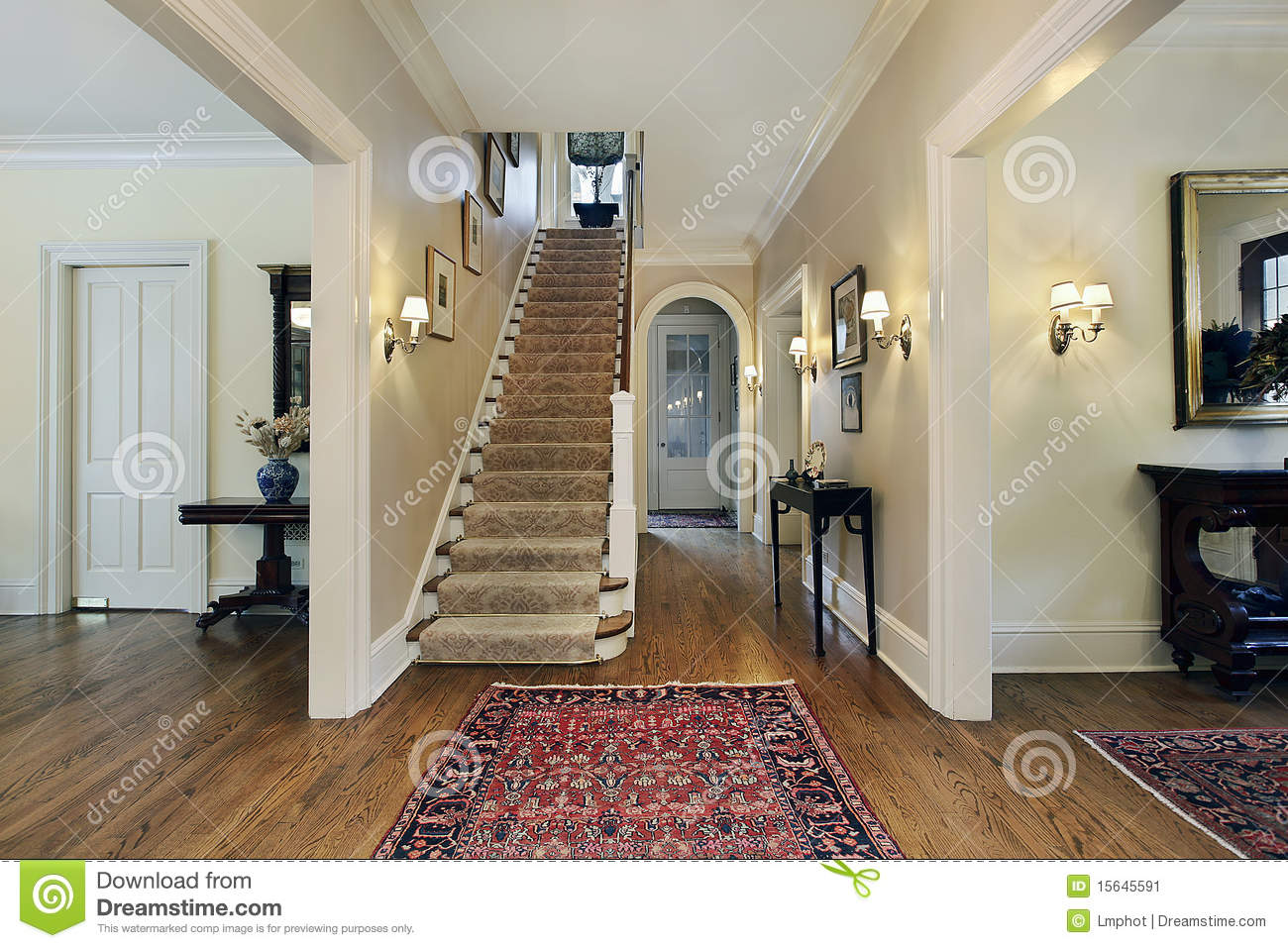 House Foyer Xl : Foyer in suburban home stock image of architecture