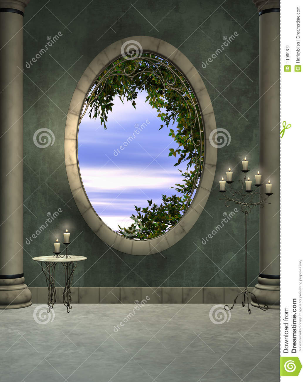 Foyer Window Cost : Foyer and window stock photography image