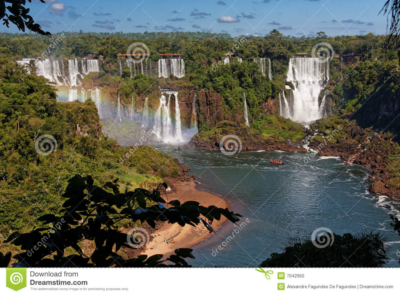 Foz Do Iguacu Brazil  city photos : ... Foz do Iguacu, Parana, Brazil.Tourists are at the bottom of the falls