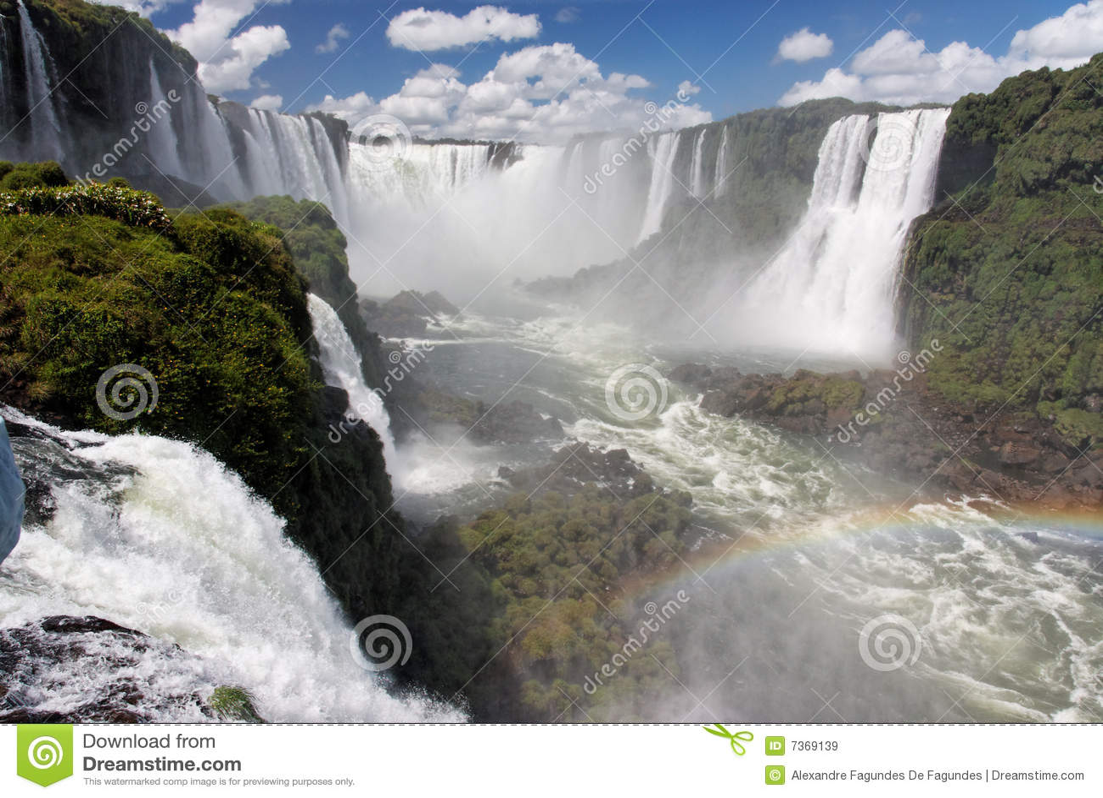 Foz fa le cadute Argentina Brasile di Iguassu