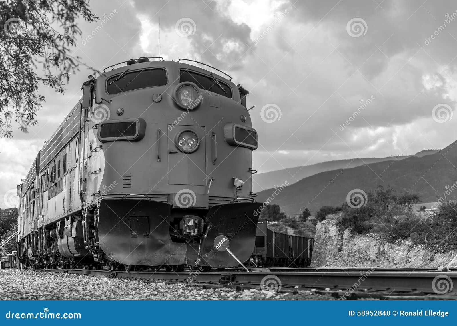 Diesel Locomotive Fp7 On Verde Canyon Railroad Editorial Image