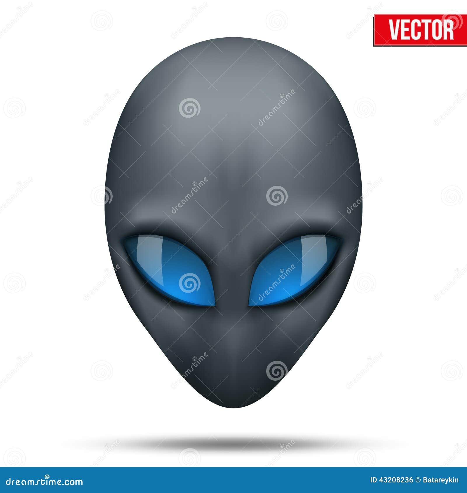 Download Främmande Head Varelse Från En Annan Värld Vektor Vektor Illustrationer - Illustration av intelligens, intelligent: 43208236
