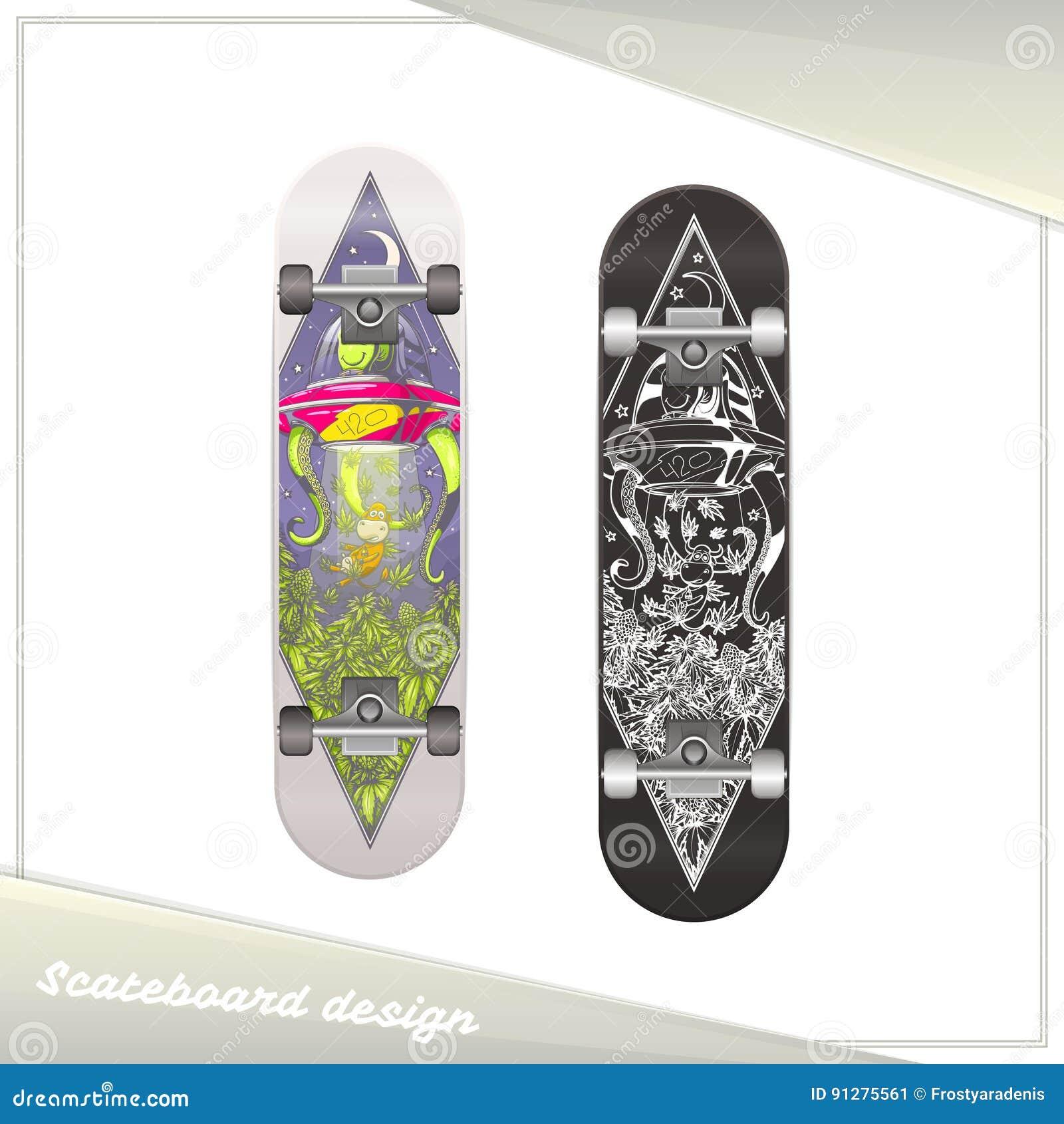 Främmande skateboarddesign