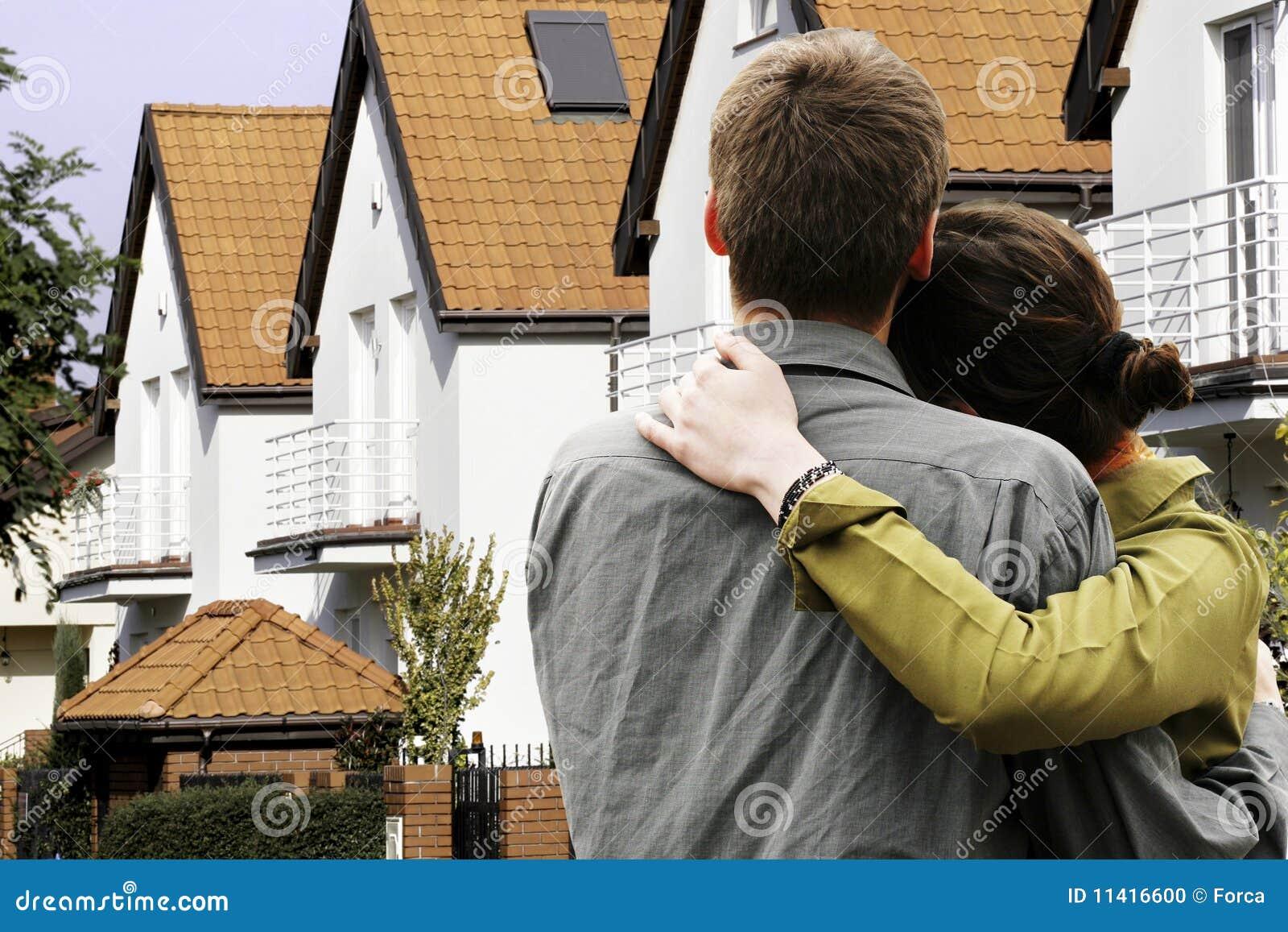 Främre hus för par