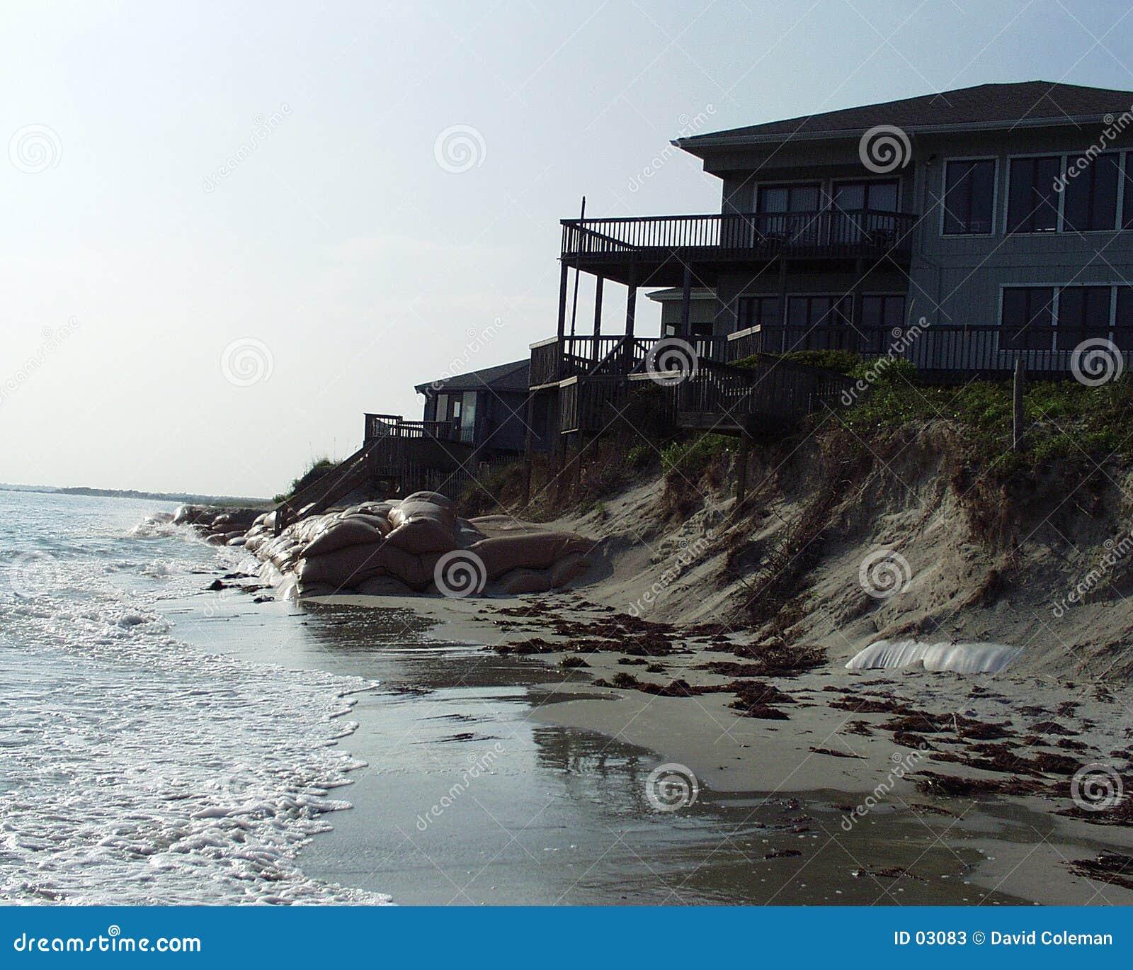 Främre hus för strand