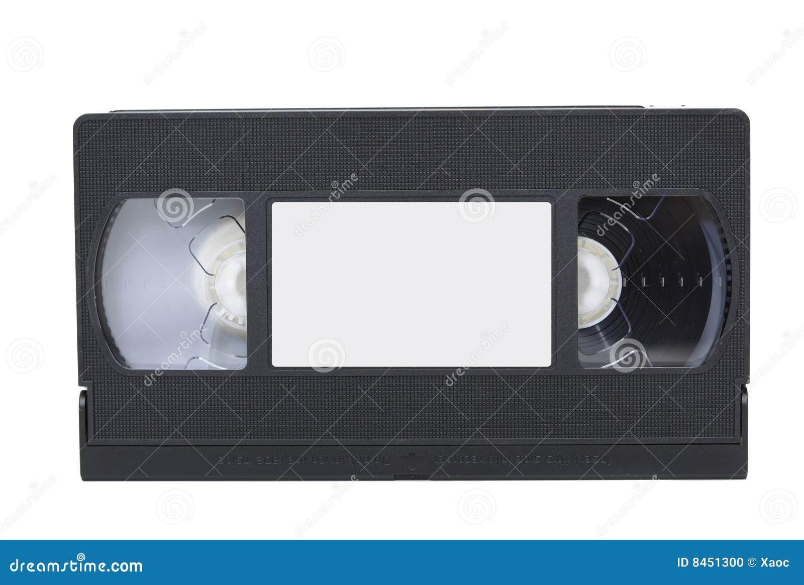 Främre sikt för video för etikettbandvhs