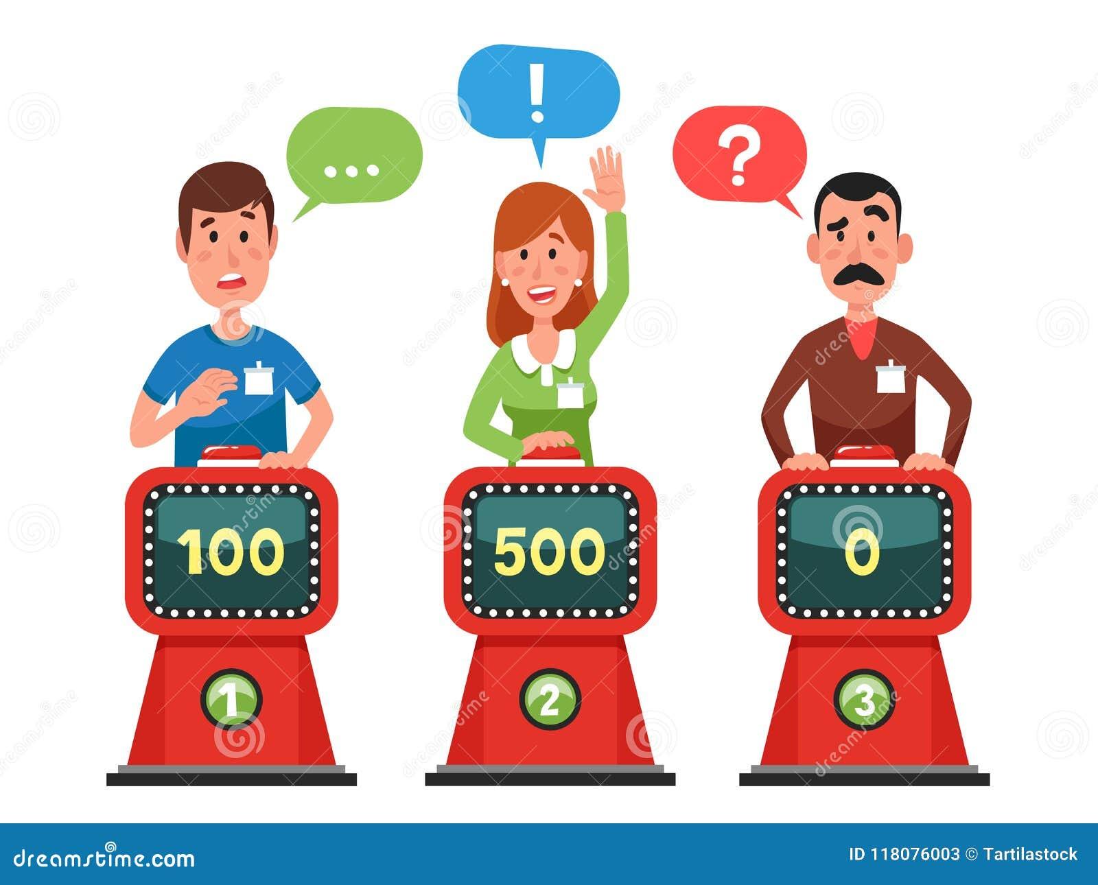 Fråga för teckensvarsprov på intellektshow Trängande knapp och svarande frågesportfrågor Modig konkurrensvektor
