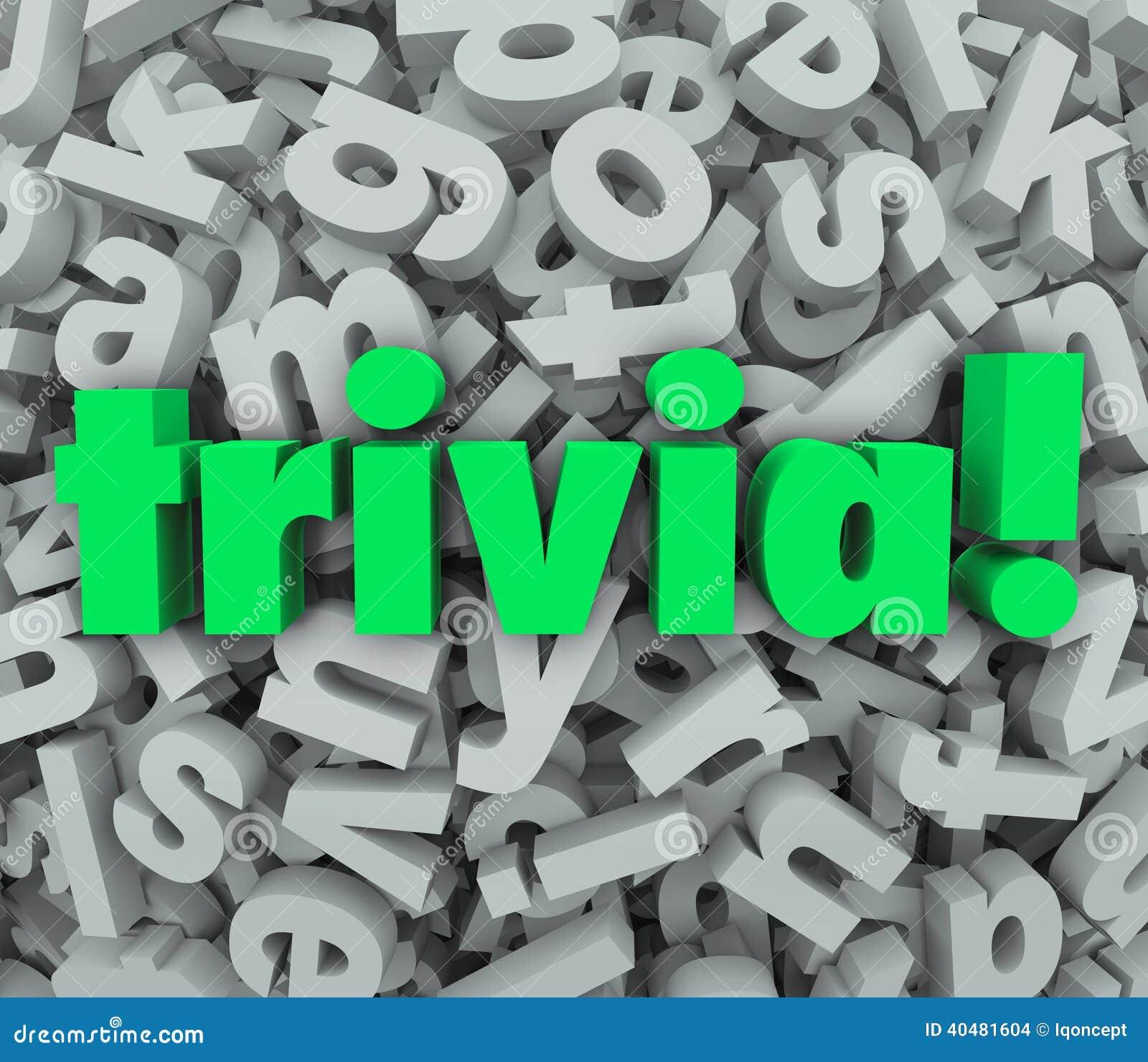 Frågor för rolig lek för frågesport för bakgrund för bokstav för småsakerord 3D