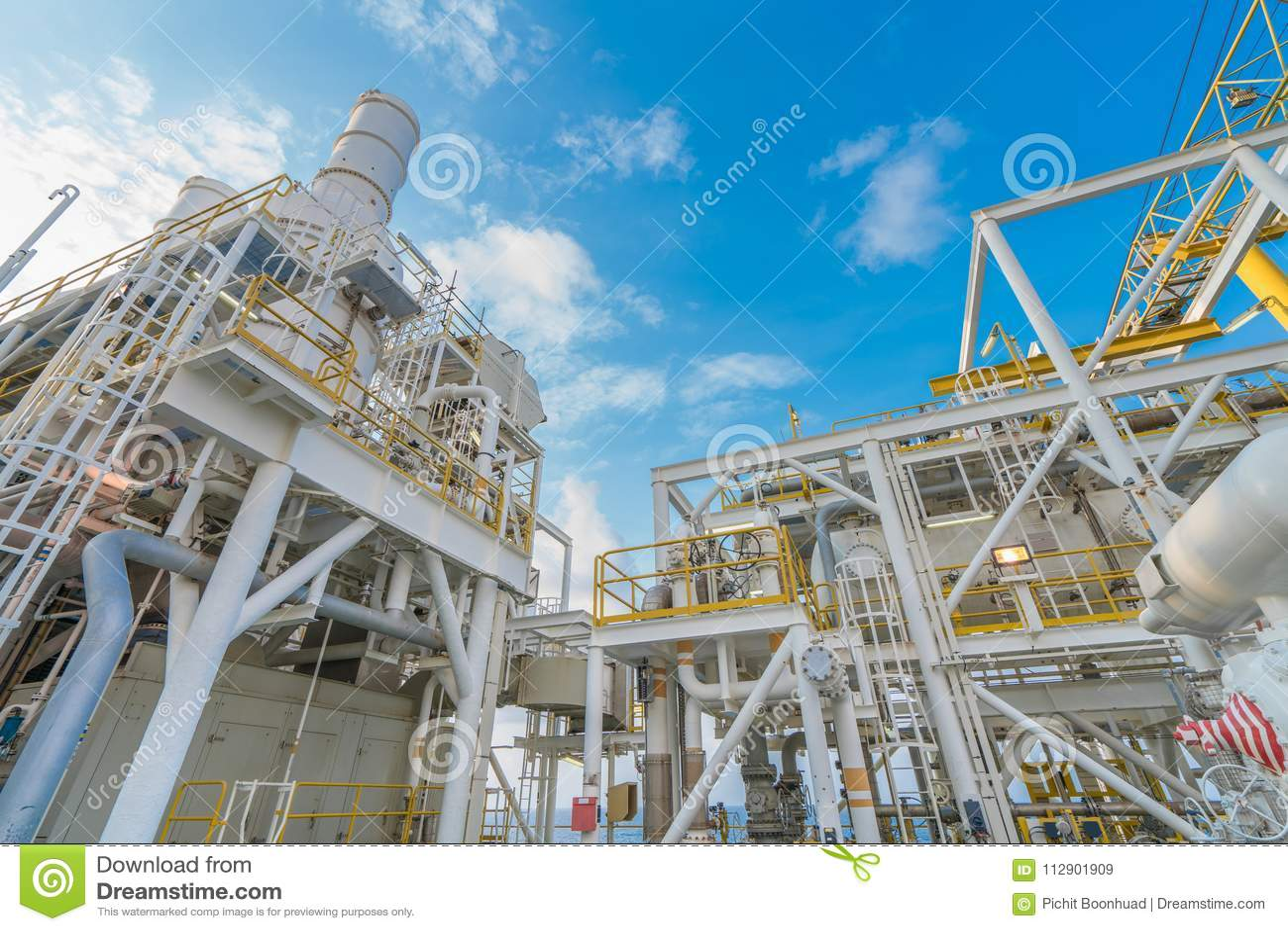 Frånlands- fossila bränslenbransch, gaskompressionssystem och enhet för återställning för förlorad värme av bunten för avgasrör f