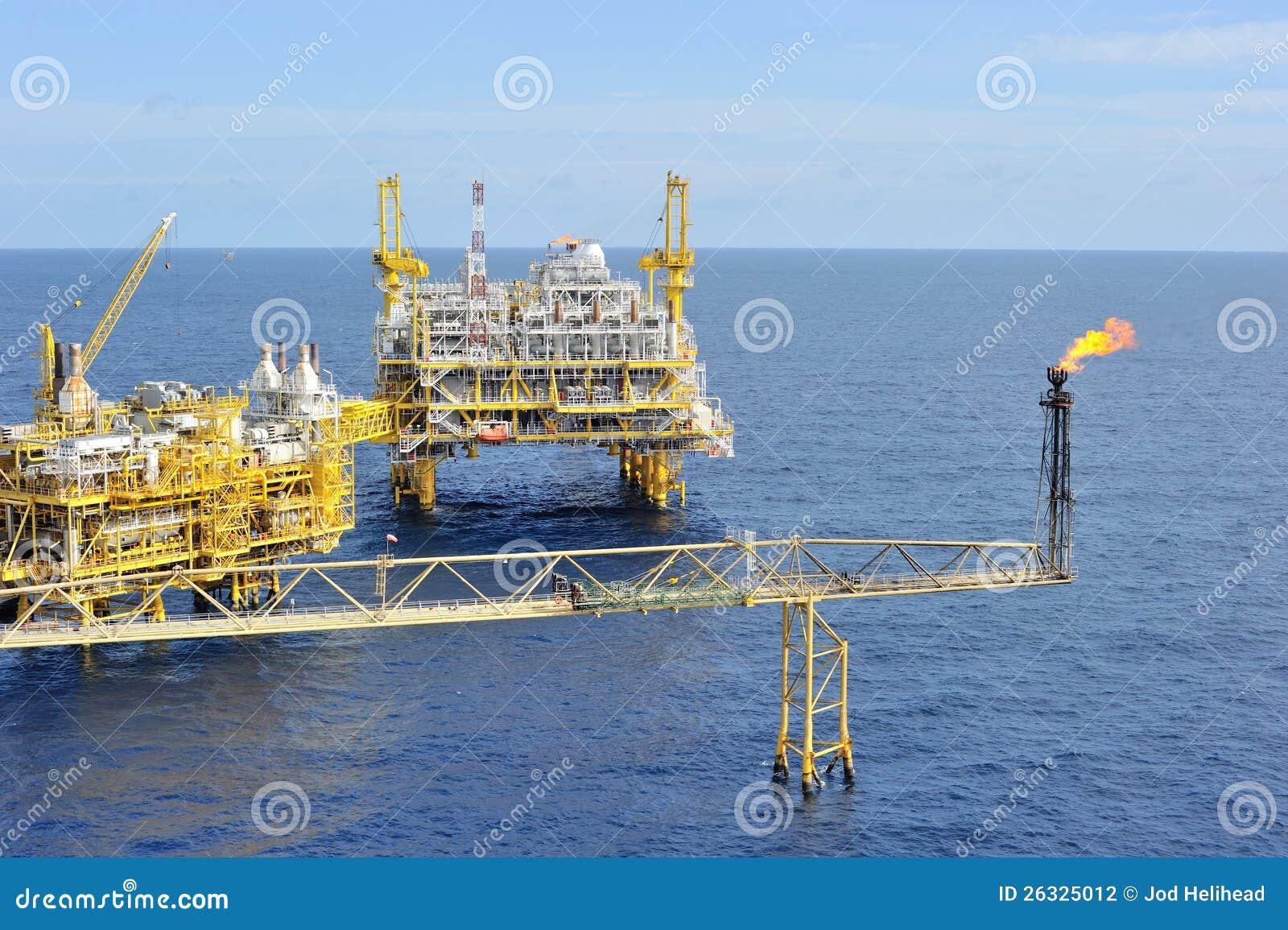 Frånlands- plattform för olja och för gas