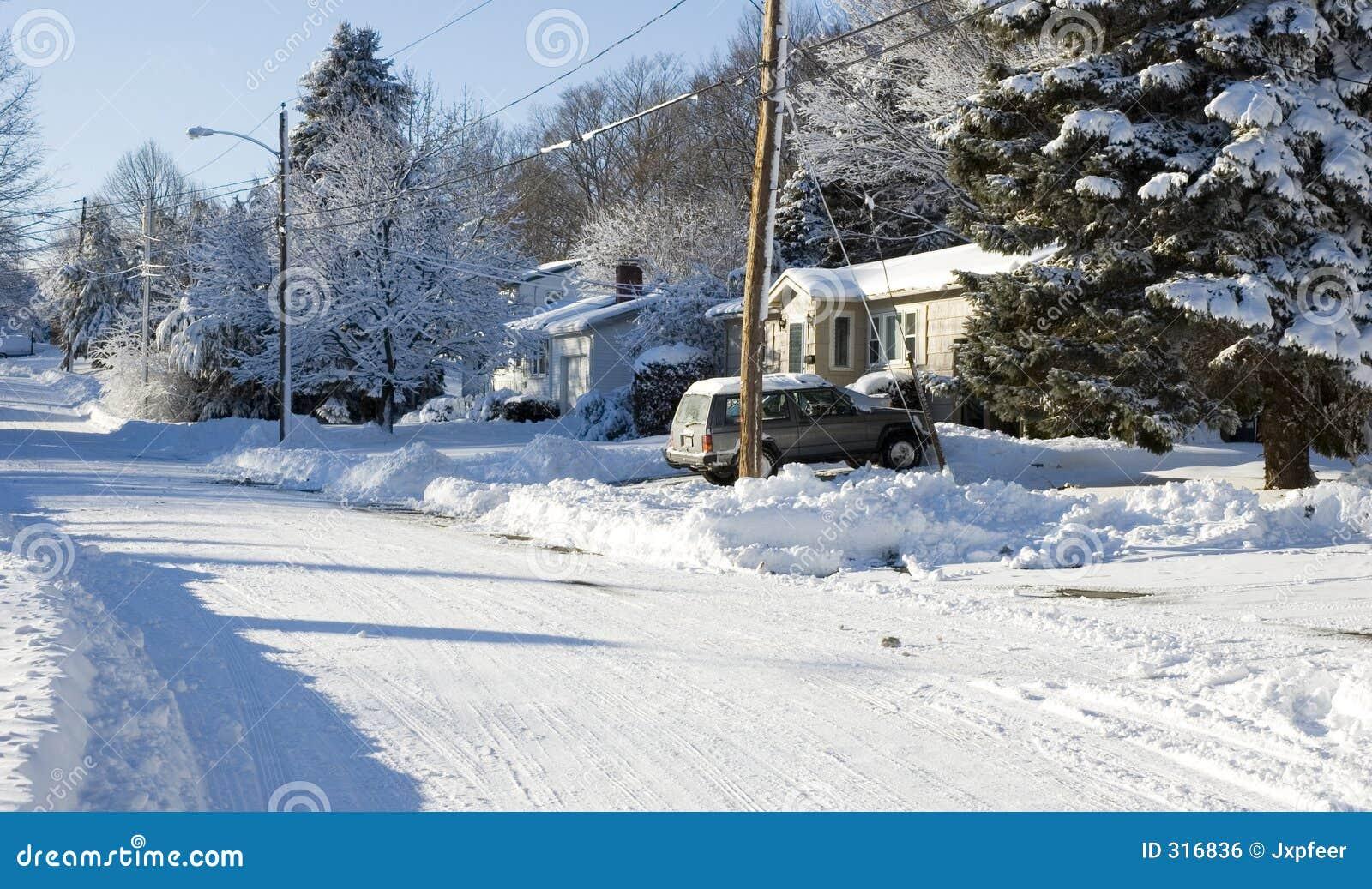 Frío en áreas residenciales