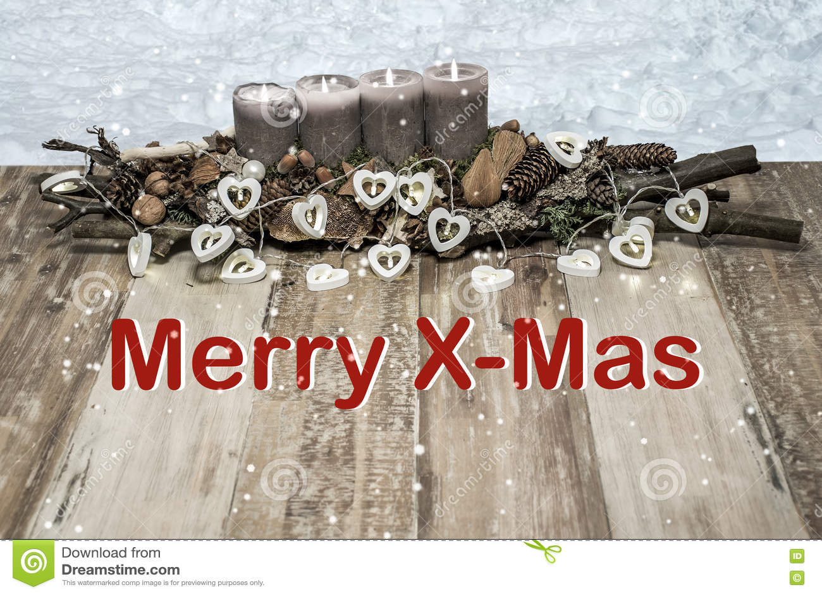 Fröhliche Weihnachtsdekoration, Die Graue Kerzenschneeherz ...