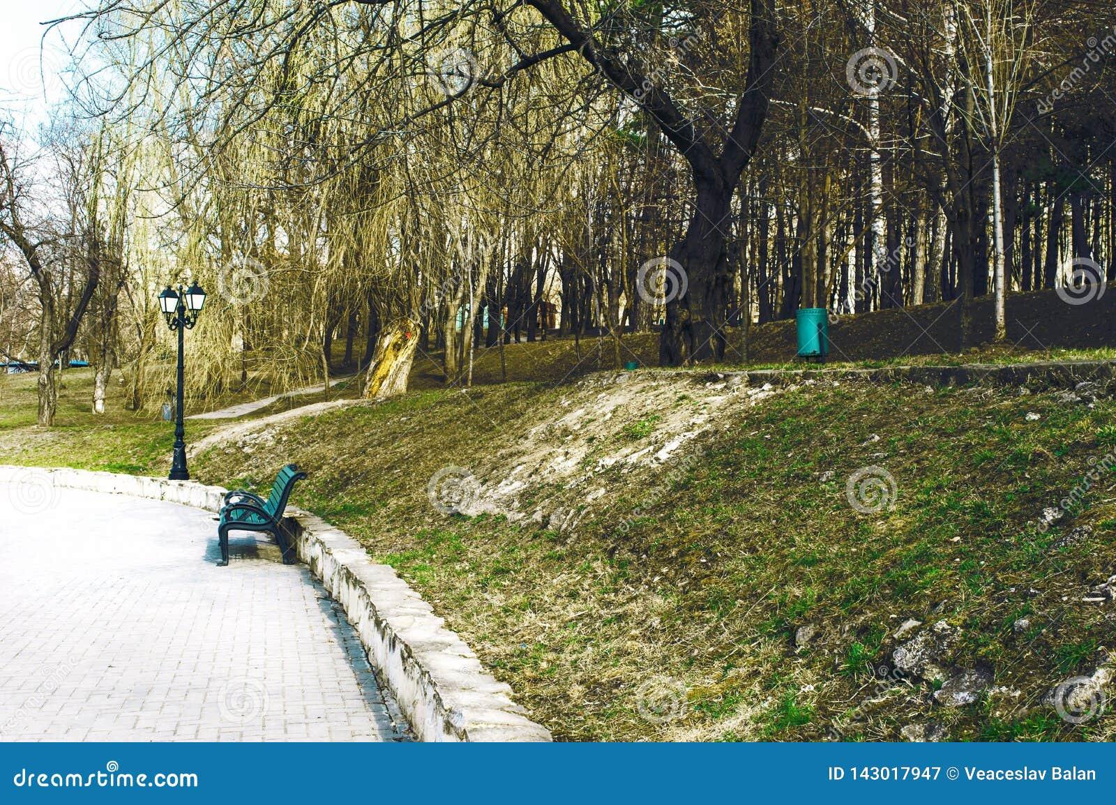 Frühling ist in den alten Park gekommen