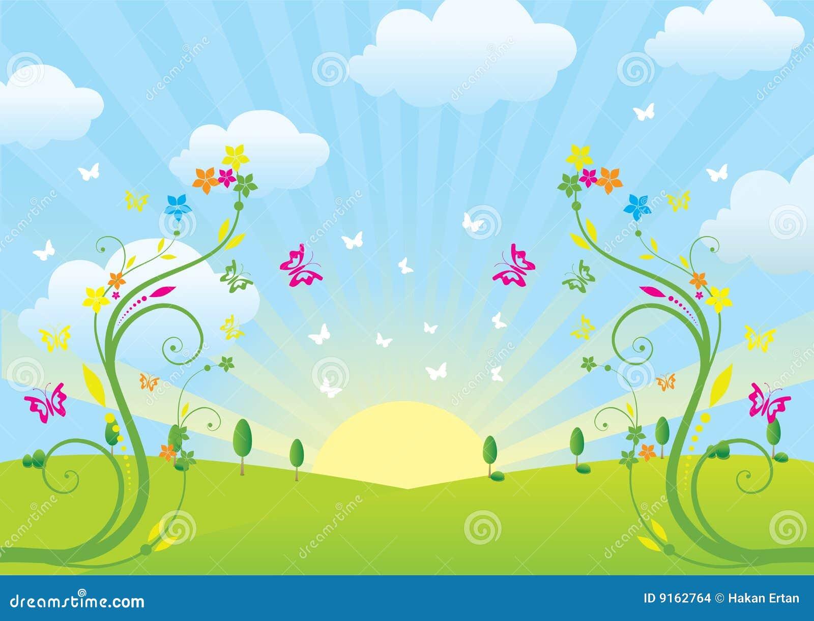 Frühling und Blumen