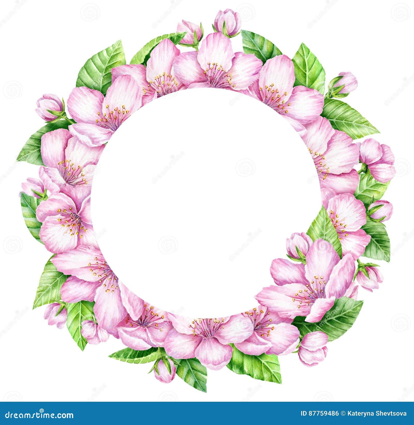 Frühlings Blüten Kranz Dekoratives Bild Einer