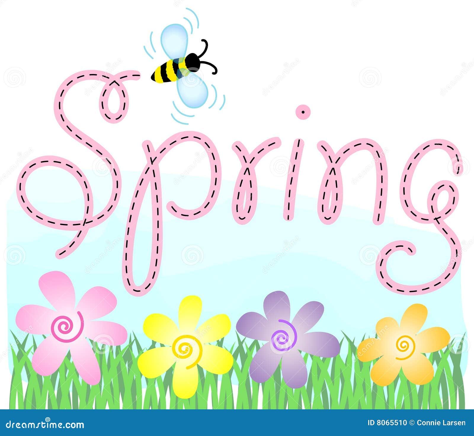 Frühlings-Blumen und Biene
