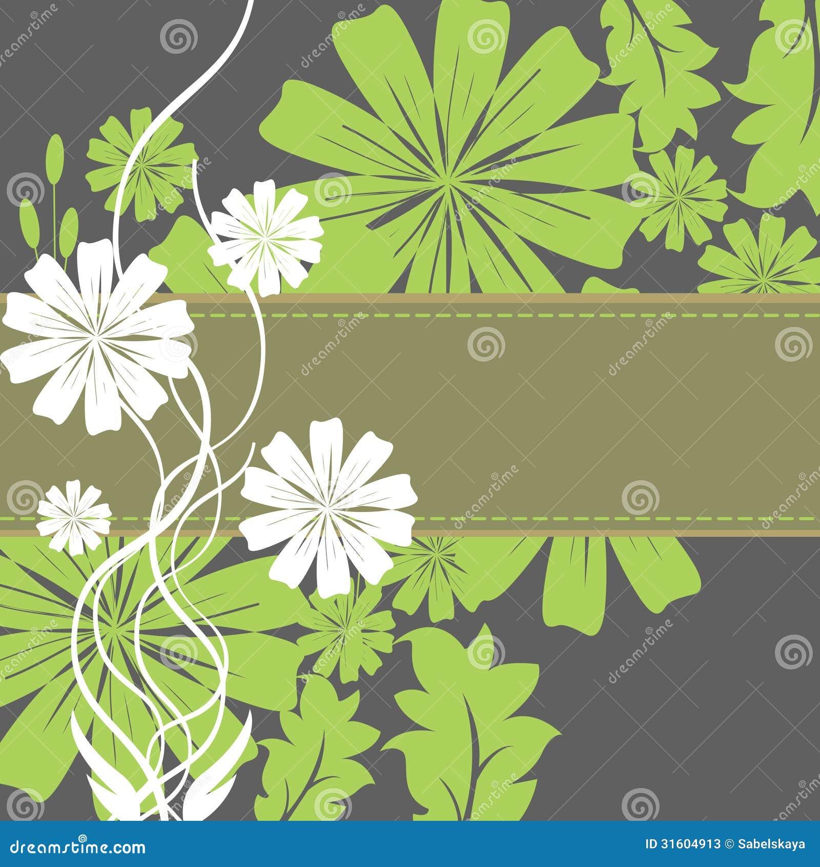 Frühlings-Blumen-und Blatt-Rahmen Vektor Abbildung - Illustration ...