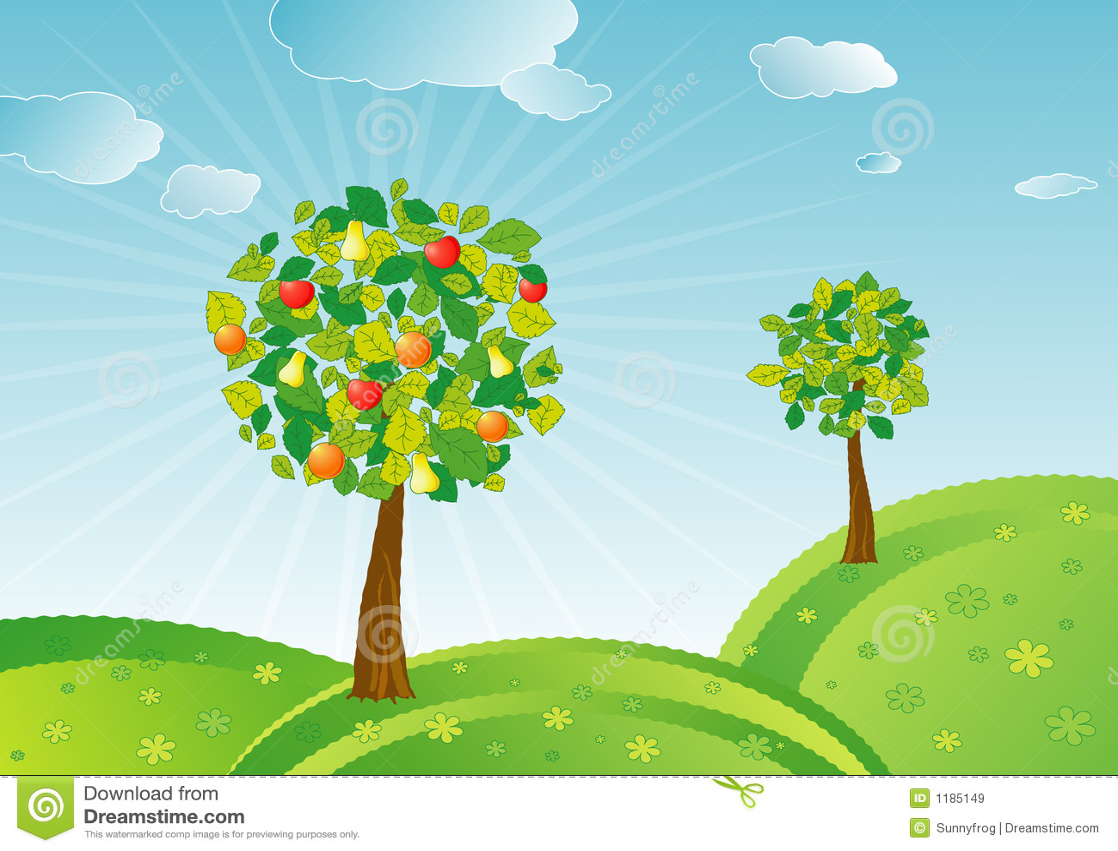 FrühlingsObstbäume, Vektor