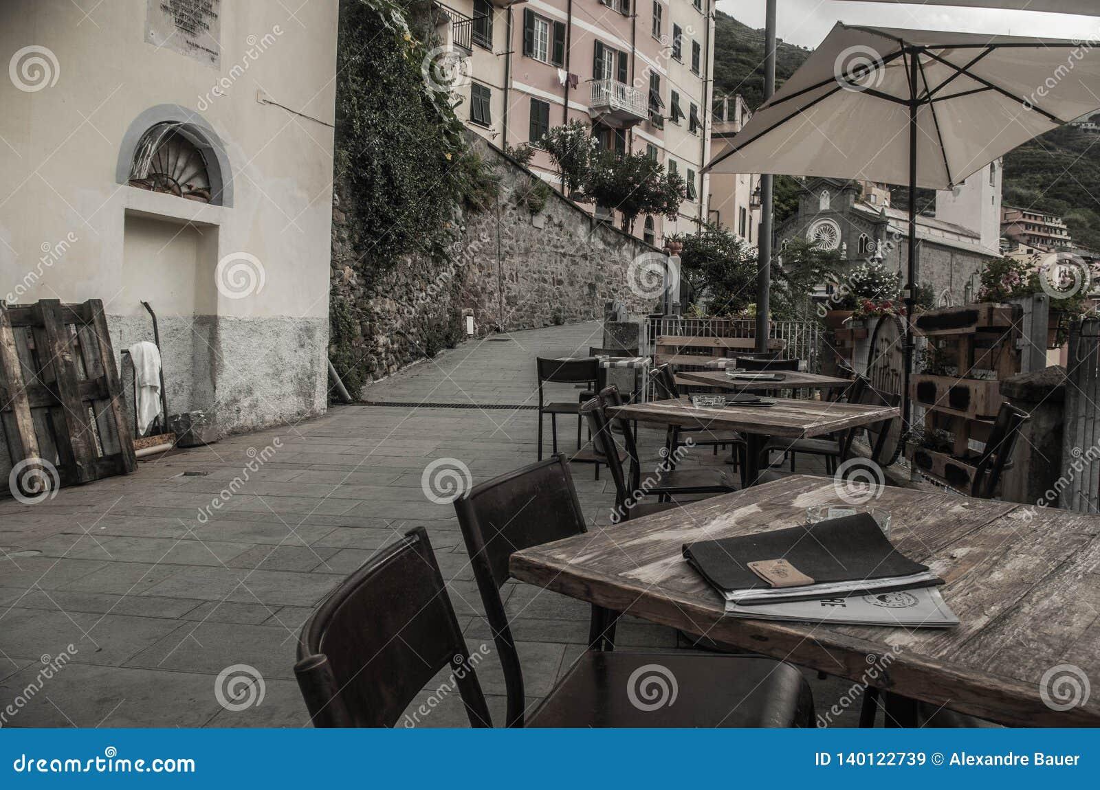 Frühstück in cinque terre, Italien