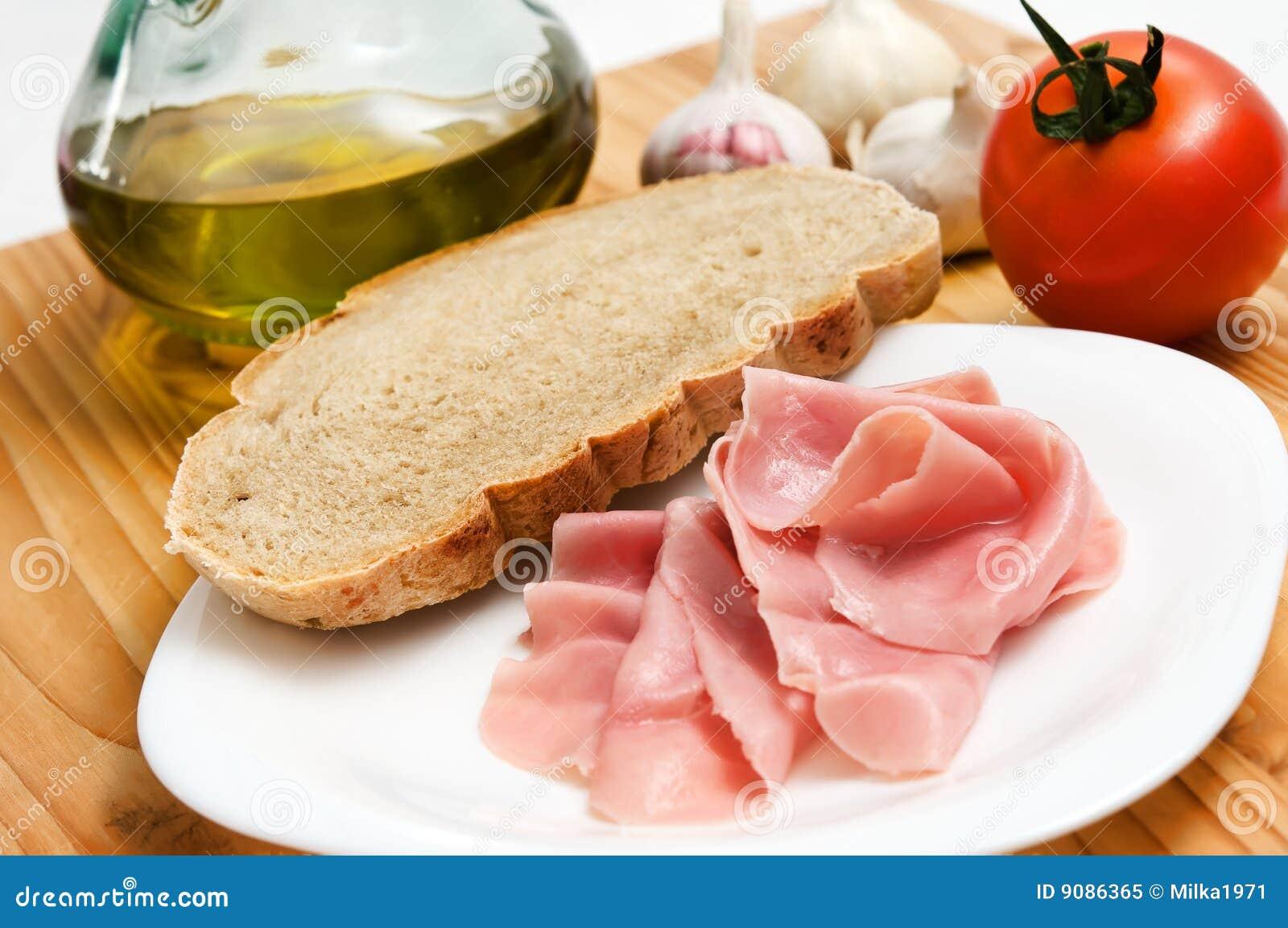 Frühstück mit Schinken