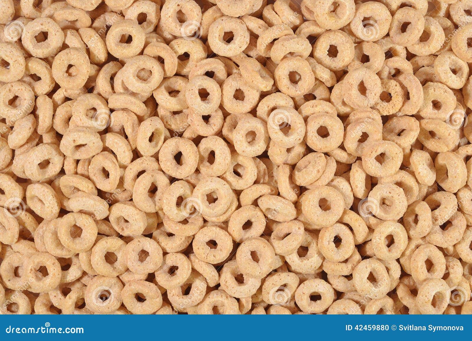 Frühstückskost aus Getreide schellt Hintergrund