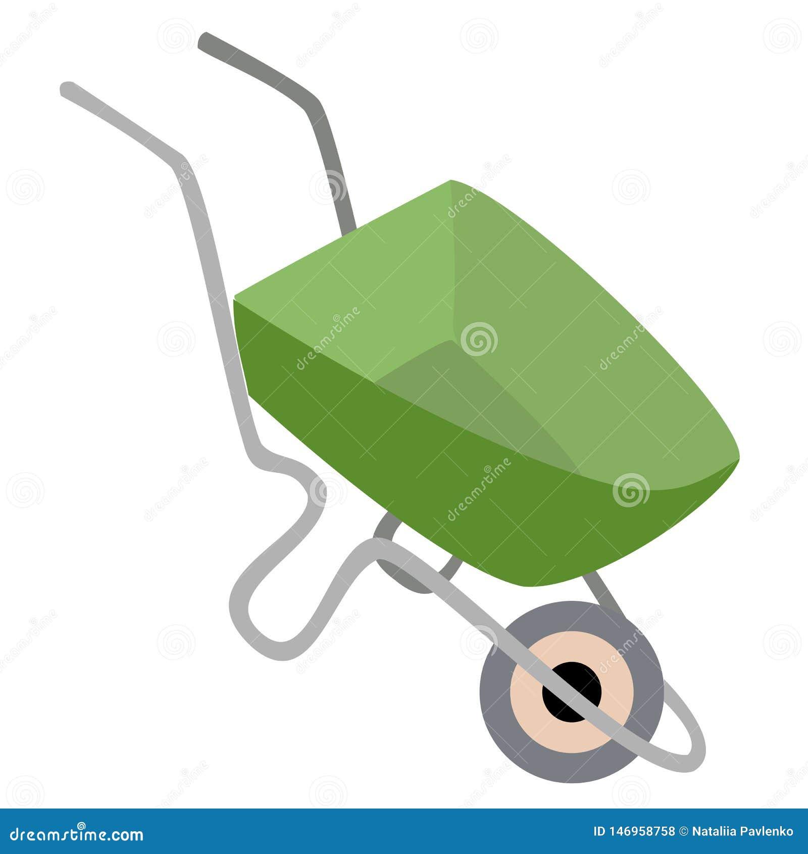 Fr?hjahr und Gartenarbeit Schubkarregarten, Gebäude Eine notwendige Sache im Haushalt Für den Transport von Waren Vektor