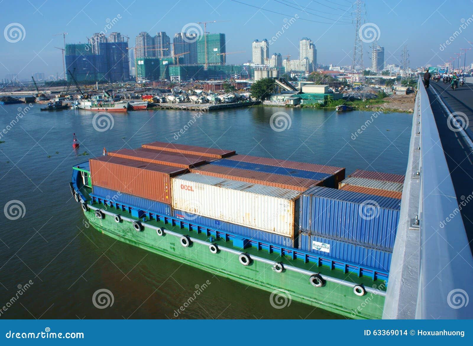 Frachtschiff, Versand, Logistik, Service, Ho Chi Minh Stadt, tra