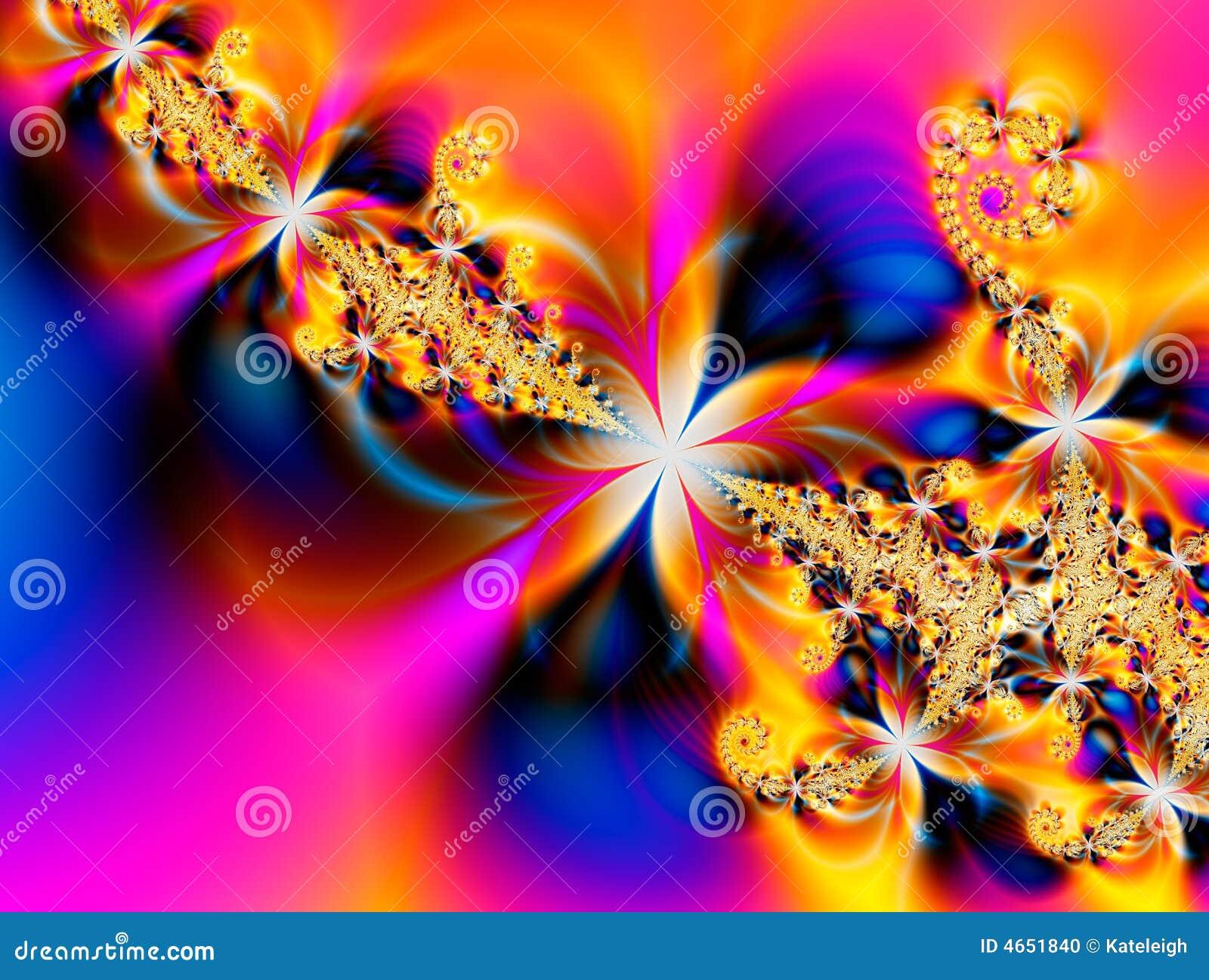 Fractal λουλουδιών κινείται σπειροειδώς τροπικός