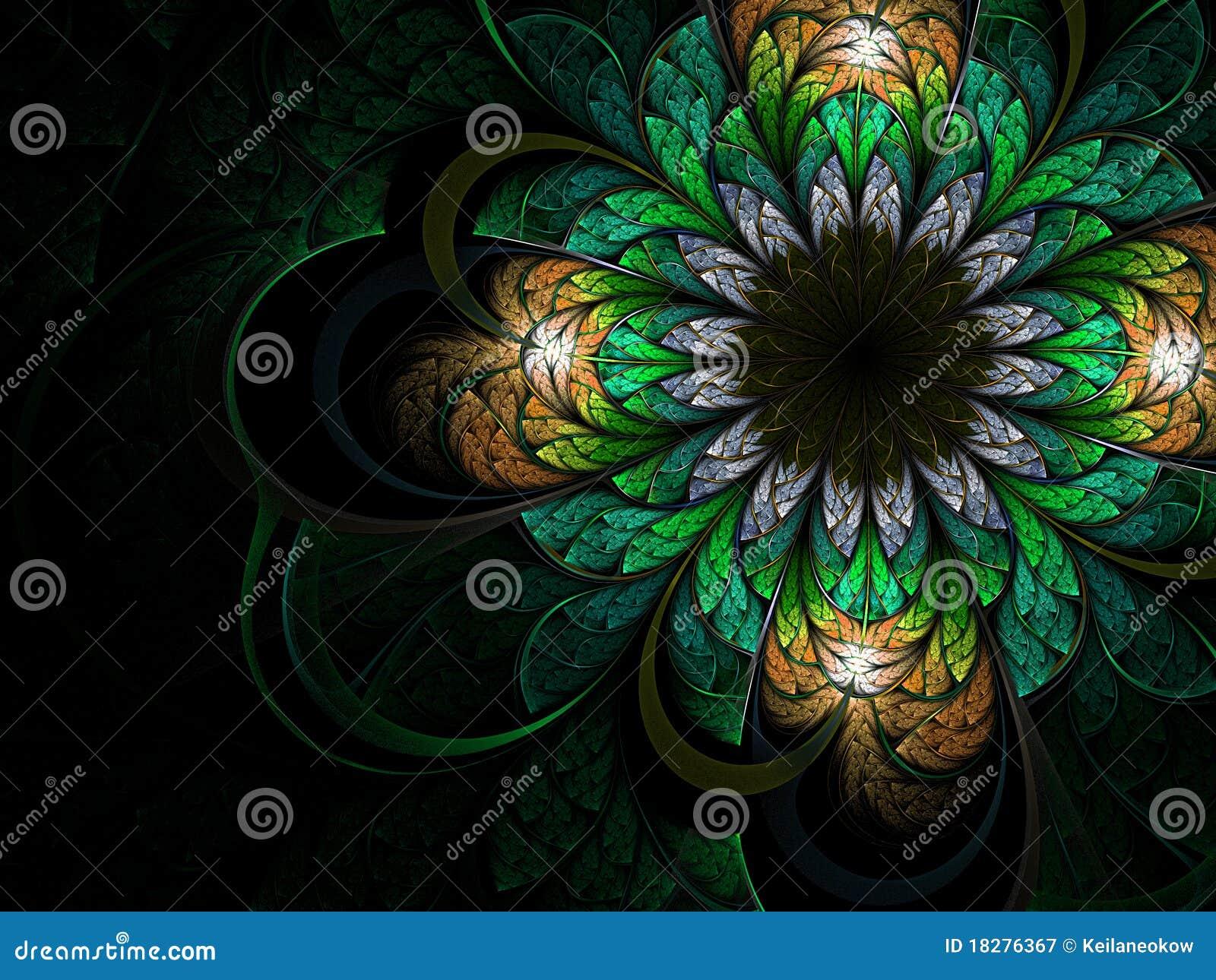 Fractal λουλουδιών πράσινος &lambd