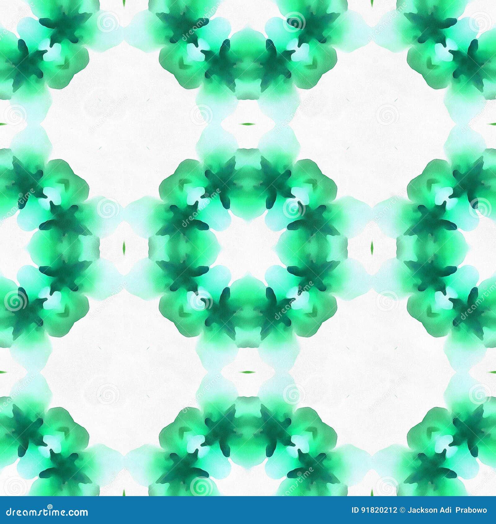 Fractal μπατίκ πράσινη θέση