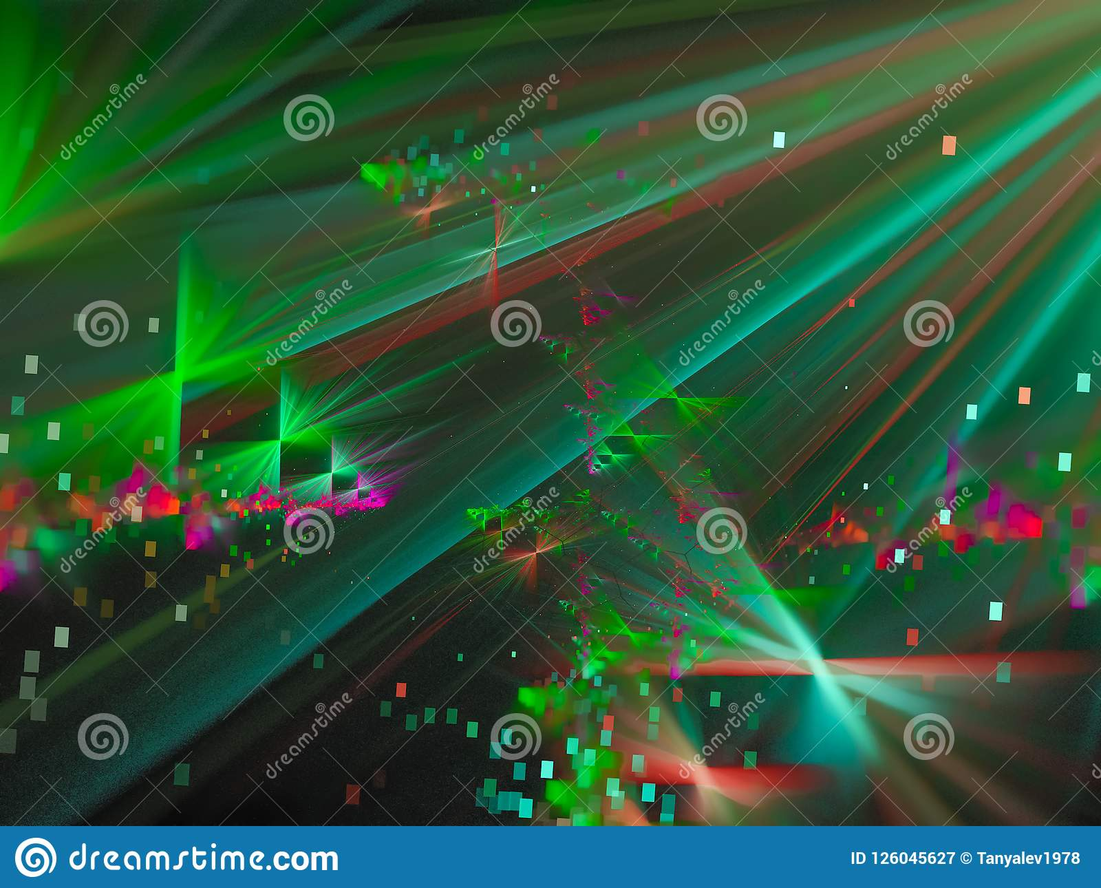 Fractal abstract color, card concept wallpaper generated color background, creative design, disco chaos
