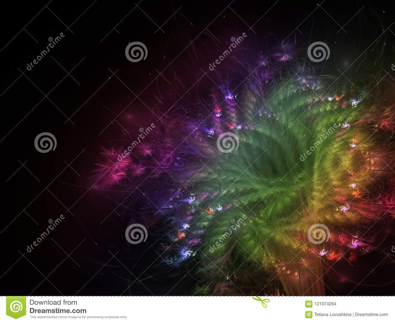 Fractal Abstract Flower Beautiful Color Fantasy Effect Dark Wallpaper Blossom Unique Dynamic