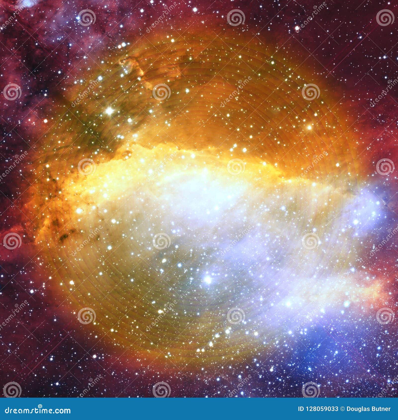 The Eye Of God In Space Fractal Art Background Wallpaper Stock