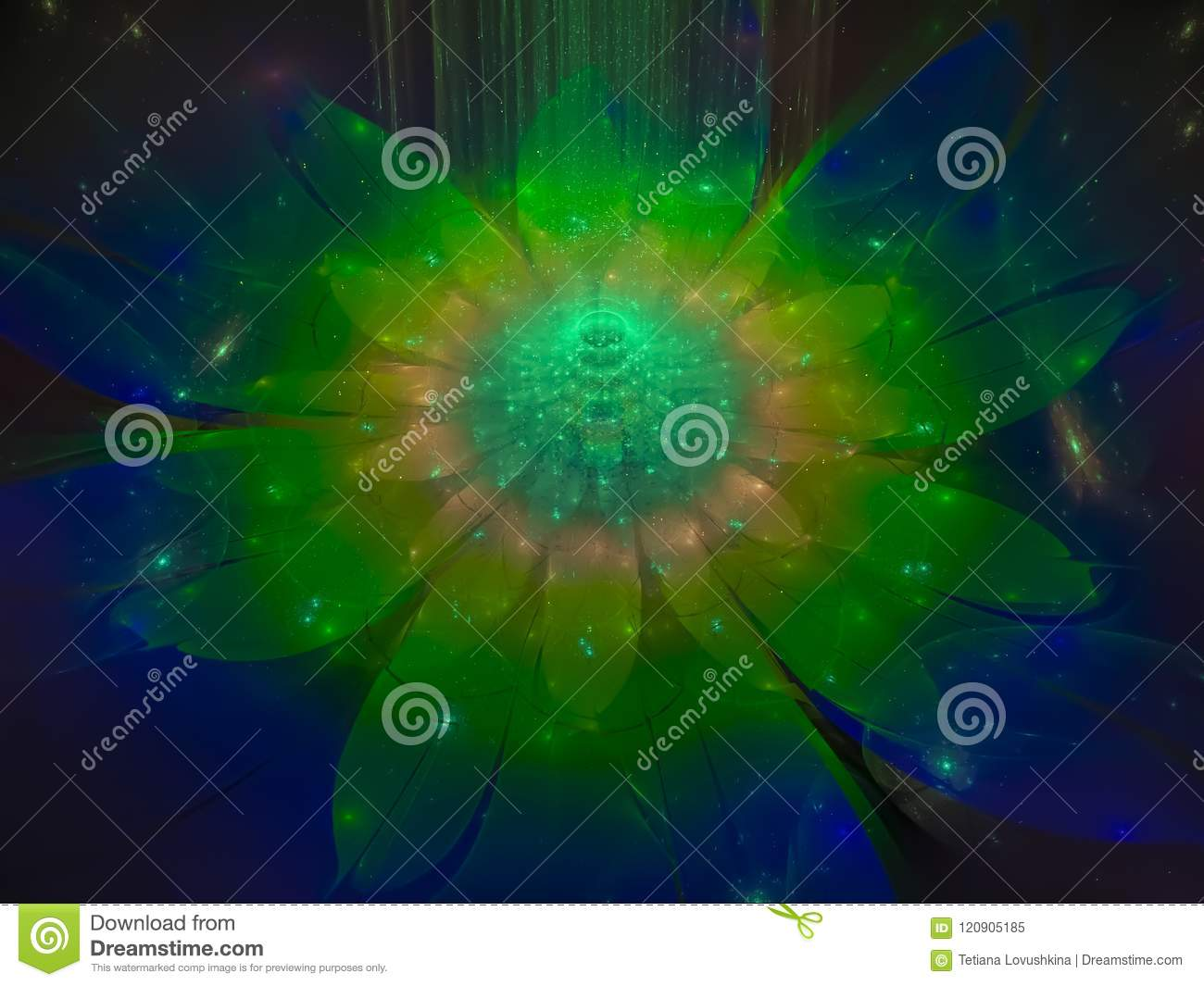 Fractal background concentric sharp ethereal picture pattern twisted concept