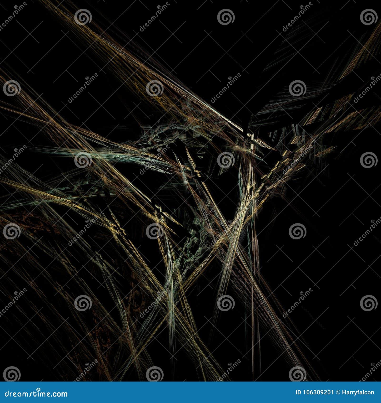 Fractal del web en negro