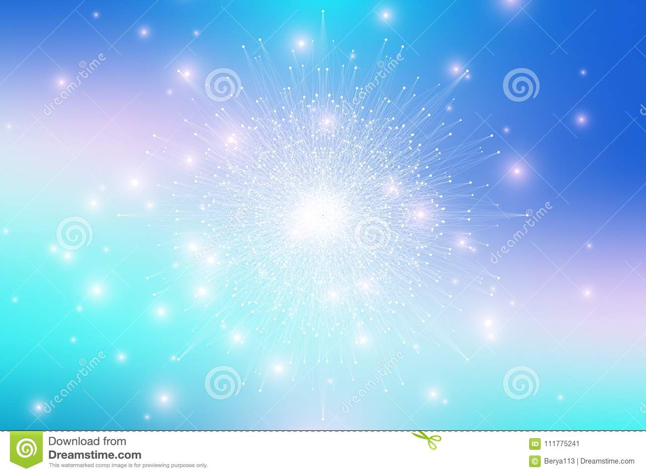 Fractal element with compounds lines and dots. Big data complex. Graphic abstract background communication. Minimal