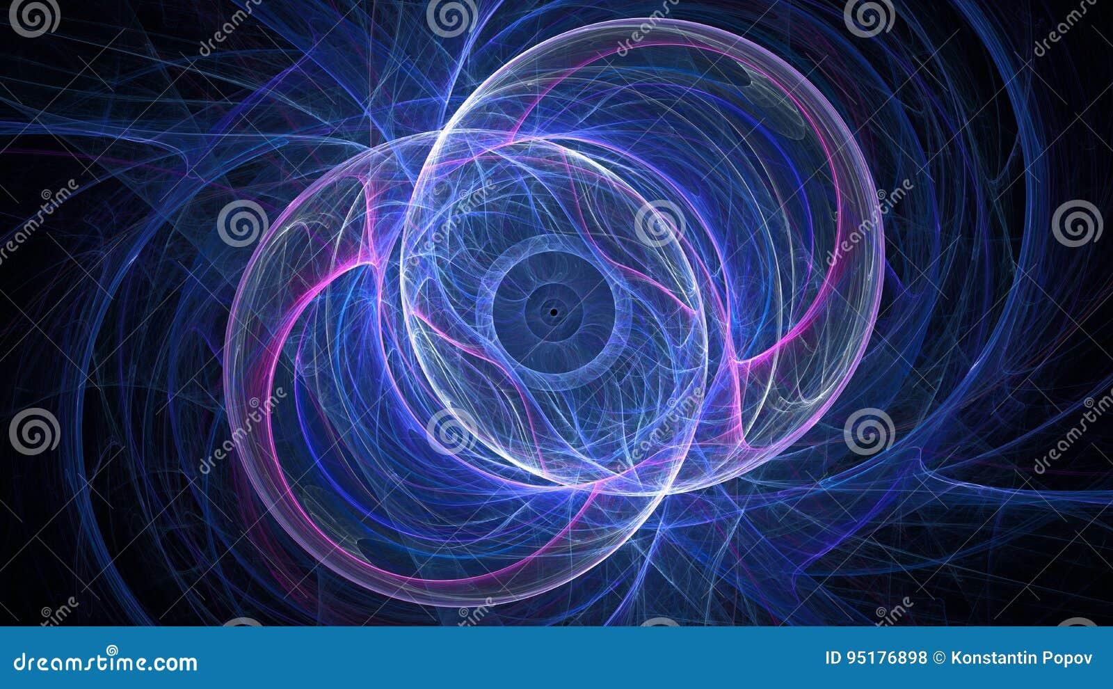 Cosmic Fantasy Fractal Blacklight: Fractal Fantasy Stock Illustration. Illustration Of