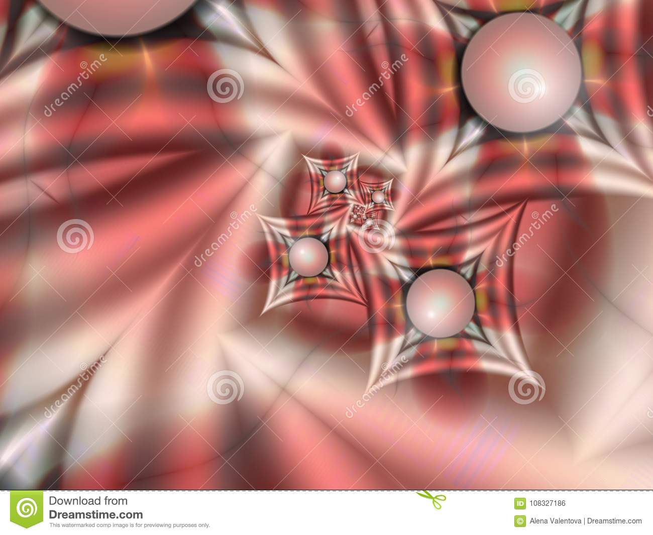Fractal image with shapes. For your text. Green color.