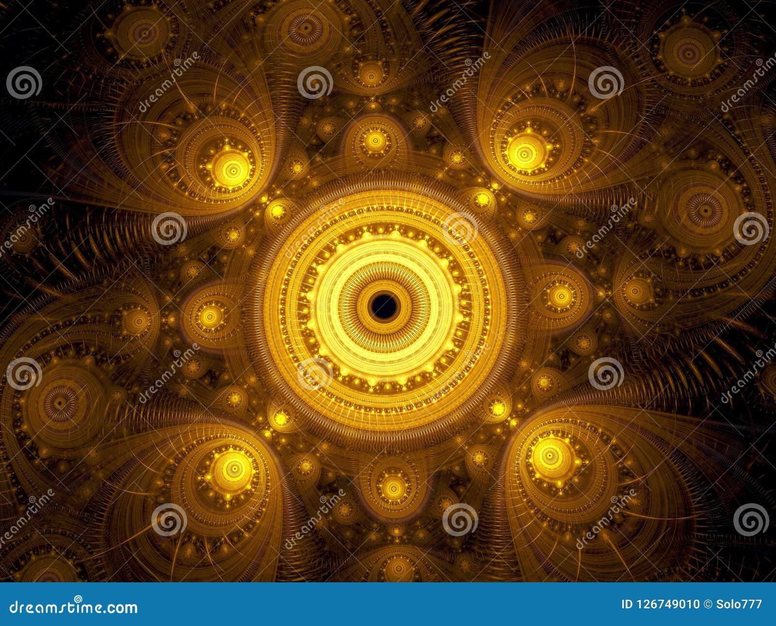 Fractal mandala - abstract esoteric digitally generated image